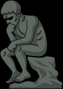 考える人の姿勢 排便